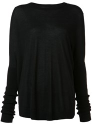Sally Lapointe Long Sleeved Top Black