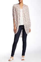 Painted Threads Pleat Tuck Cocoon Cardigan Pink