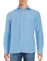 Tommy Bahama Sand Checkered Linen Blend Sportshirt Download Blue