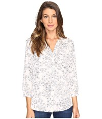 Nydj Solid Blouse W Pleated Back Minimal Etching Macaron Women's Blouse
