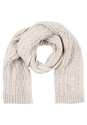Jack And Jones Jjvcable Scarf Oatmeal Mottled Grey