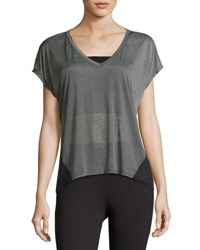 Soybu Kristen Colorblock Tee Gray