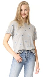 Wildfox Couture Football Star Tee Heather Grey