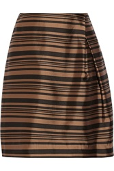 Raoul Tulip Striped Silk And Cotton Blend Skirt