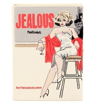 Olympia Le Tan Jealous Embroidered Book Clutch Multicoloured