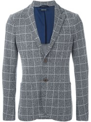 Giorgio Armani Checked Blazer Grey