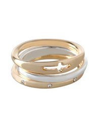 Bcbgeneration Faith Rings Set Of 3 Tri Color