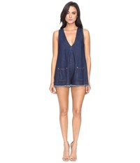 Alice Mccall S.O.S Playsuit Denim 2 Women's Jumpsuit And Rompers One Piece Navy