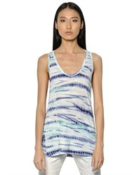 Proenza Schouler Tied And Dyed Cotton Jersey Tank Top