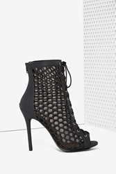 Nasty Gal Uh Huh Honeycomb Vegan Leather Bootie