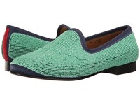 Del Toro Prince Beaded Loafer Teal