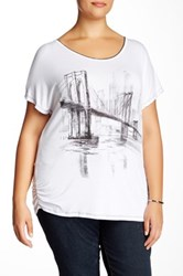 Vanilla Sugar Brooklyn Graphic Tee Plus Size White