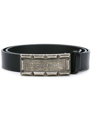 Dsquared2 Rusted Logo Buckle Belt Black