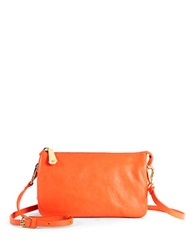 Kenneth Cole Alton Leather Crossbody Bag Tigerlily