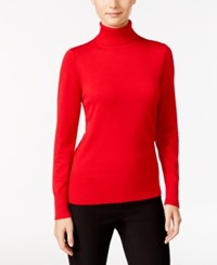 Cable And Gauge Ribbed Turtleneck Sweater Scarlet Sage