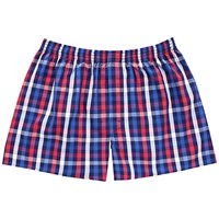 Thomas Pink Jeffers Check Boxer Shorts Navy Red