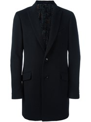 Etro Single Breasted Coat Black