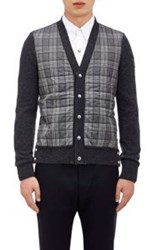 Moncler Gamme Bleu Quilted Oxford Cardigan Colorless