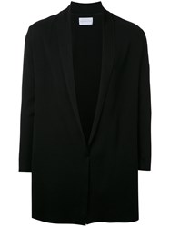 Estnation Shawl Lapel Cardigan Men Cotton Cupro M Black