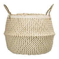 Bloomingville Seagrass Zigzag Basket White Nature