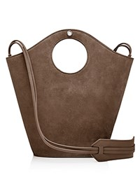 Elizabeth And James Market Small Suede Leather Tote Flint Silver