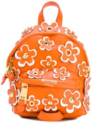 Moschino Mini Flower Power Backpack Yellow Orange