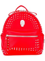 Philipp Plein Going On Backpack Red