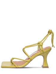 Miista 80Mm Leather Lace Up Sandals Green