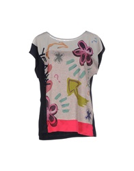 Desigual T Shirts Dove Grey