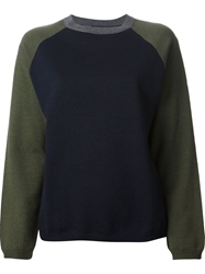 Sofie D'hoore Contrasting Raglan Sleeves Sweater Blue
