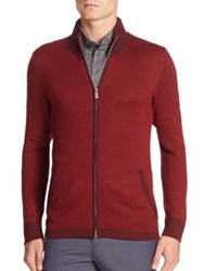 J. Lindeberg Golf Laurent Merino Wool Blend Sweater Plum