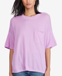 Polo Ralph Lauren Cashmere Pocket T Shirt Bright Lavender
