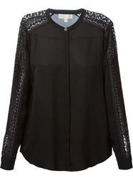 Michael Michael Kors Crochet Panel Shirt Black