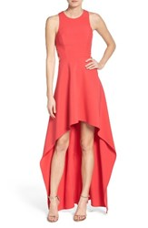 Bcbgmaxazria Women's 'Rosalyn' Cutout High Low Crepe Gown