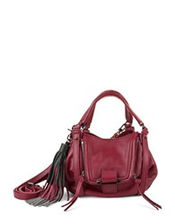 Kooba Mini Jonnie Tasseled Handbag Raspberry