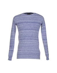 Le Mont St Michel Knitwear Jumpers Men Blue