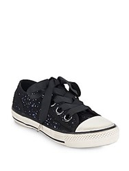 Ash Vicky Woven Glitter Sneakers Black Blue