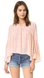 Finders Keepers Without You Blouse Pale Pink