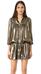 Just Cavalli Metallic Drop Waist Dress Black