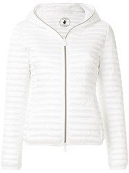 Save The Duck Hooded Padded Jacket White