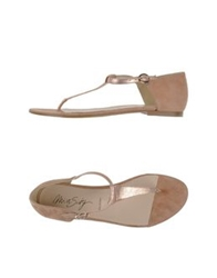 Miss Sixty Thong Sandals Skin Color