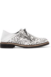 Mcq By Alexander Mcqueen Perforted Leather Brogues White