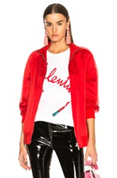 Valentino Contrast Stripe Track Jacket In Red