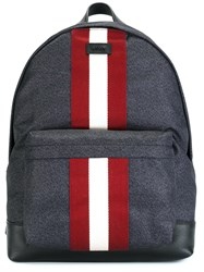 Bally Contrast Stripe Backpack Blue
