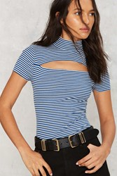 After Party Vintage Slash Out Ribbed Tee