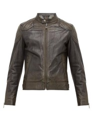Belstaff Outlaw Quilted Panel Leather Jacket Black