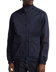 French Connection Hybrid Army Waterproof Jacket Marine Blue