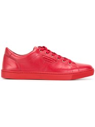 Dolce And Gabbana London Sneakers Red