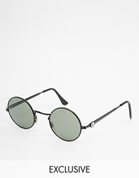 Reclaimed Vintage Round Sunglasses Black