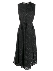 Vince Dot Print Dress Black
